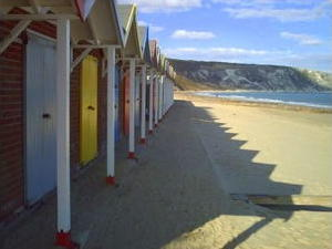 Beach huts, Swanage Bay