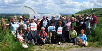 Campaigners from the White Horse Alliance, Westbury.